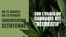 Cannabis récréatif : les députés vous consultent !