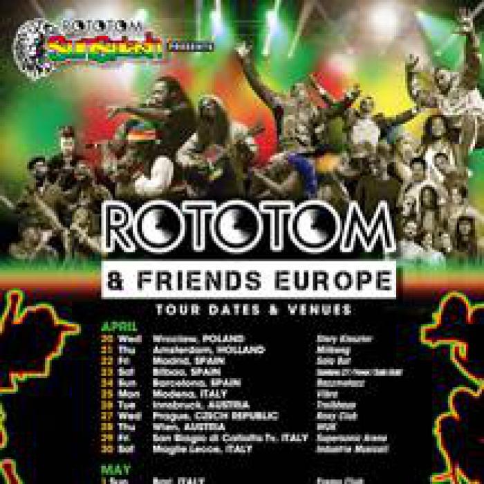 Rappel : tournée Rototom & Friends en mai