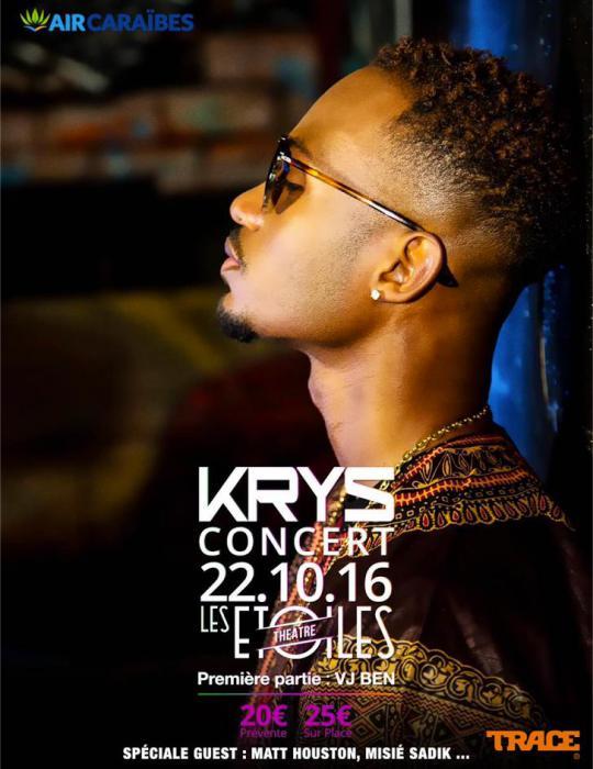 Concert de Krys le 22/10 : places à gagner