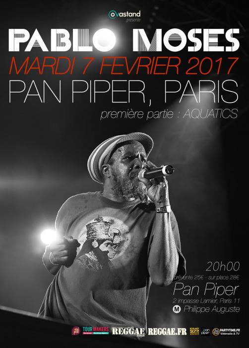 Pablo Moses à Paris le 7 février