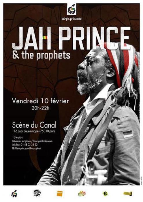 Jah Prince en concert à Paris le 10 février