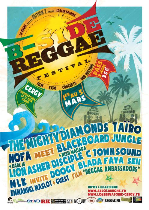 B-Side Reggae Festival début mars à Cergy
