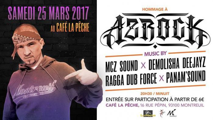 Hommage à Azrock le 25 mars à Paris