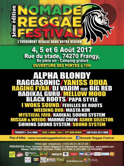 Nomade Reggae Festival en Haute-Savoie