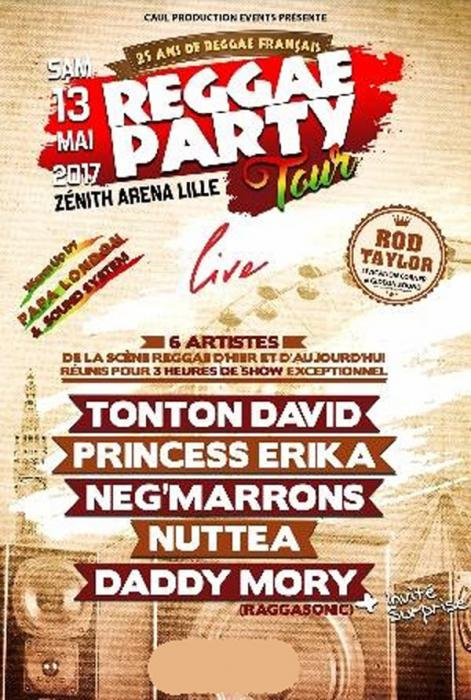 Reggae Party Tour à Lille samedi 13 mai