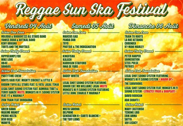 Reggae Sun Ska : la prog jour par jour