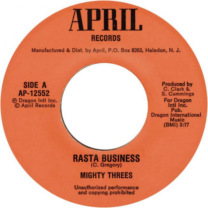 Morceau du jour : Rasta Business