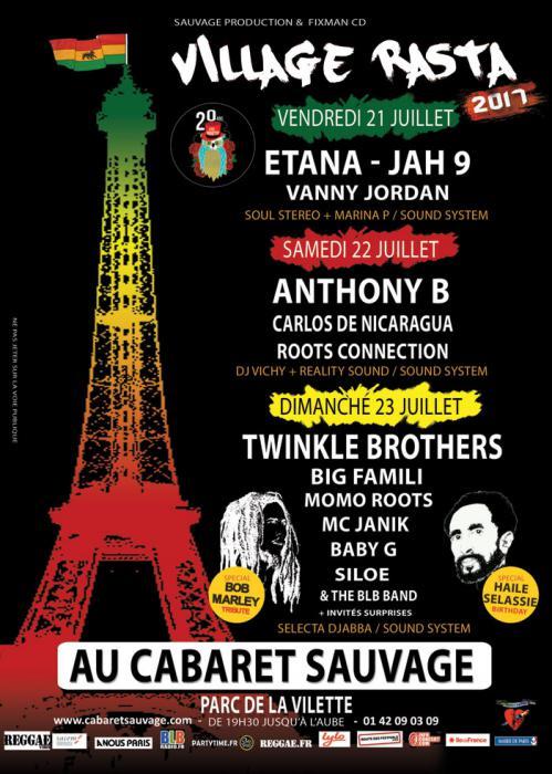 Village Rasta au Cabaret Sauvage à Paris