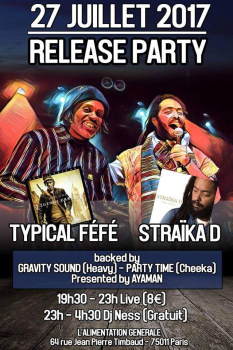 Straika D et Typical Féfé en concert le 27/07 à Paris