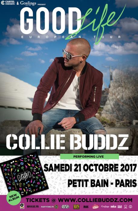 Collie Buddz à Paris le 21 octobre