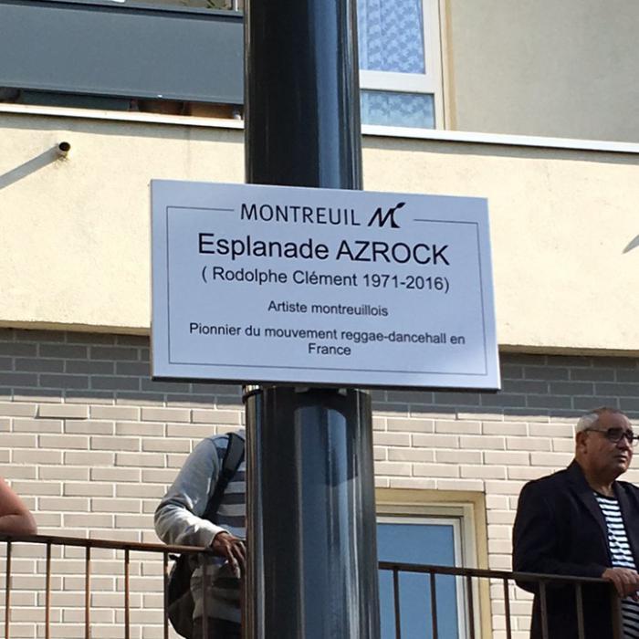 Esplanade Azrock inaugurée à Montreuil