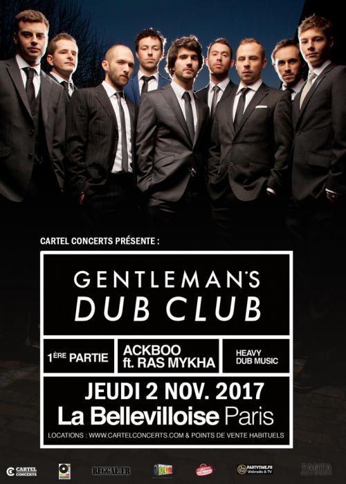 Gentleman's Dub Club & Ackboo à Paris le 2/11