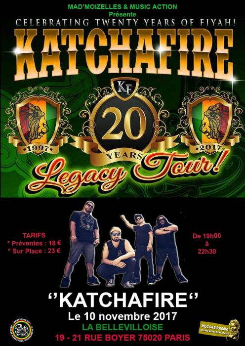 Katchafire à Paris vendredi !