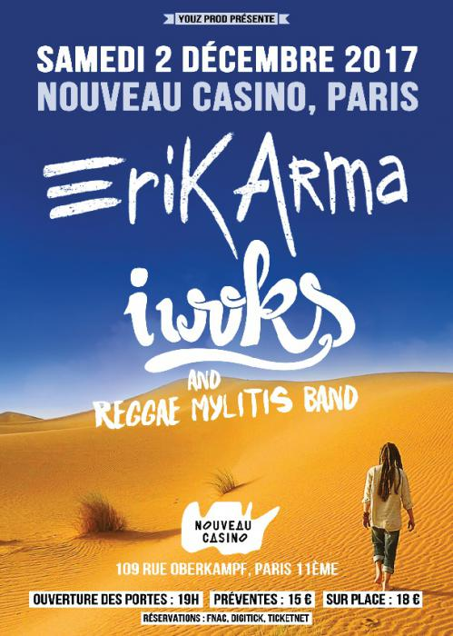 Erik Arma & I Woks à Paris ce week-end