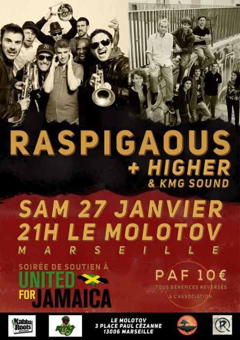 Raspigaous à Marseille en soutien à United for Jamaica
