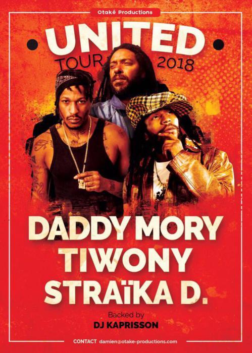 Daddy Mory, Tiwony et Straïka D en tournée