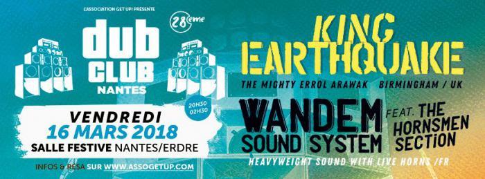 Nantes Dub Club #27 avec King Earthquake