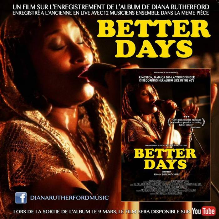 Diana Rutherford : 'Better Days' l'album et le film