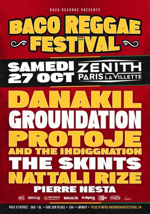 Baco Reggae Festival en octobre au Zénith de Paris
