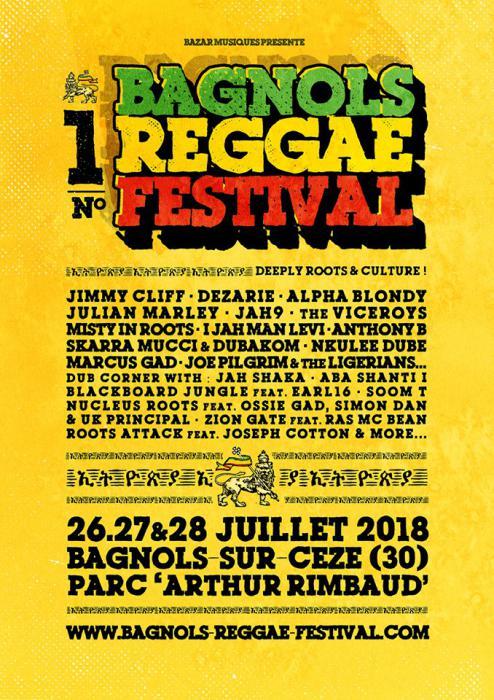 La billetterie du Bagnols Reggae Festival ouverte