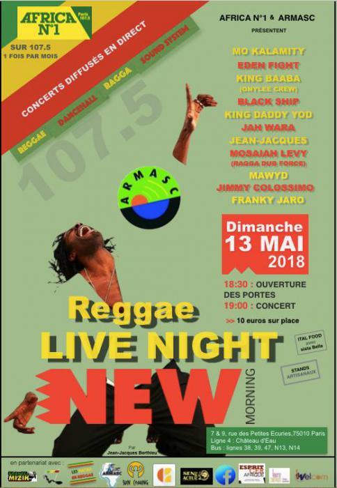 Reggae Live Night demain au New Morning