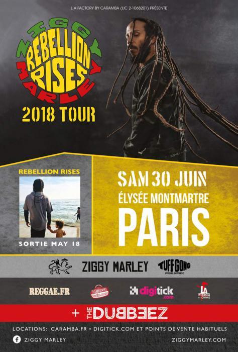 Ziggy Marley en concert à l'Élysée Montmartre