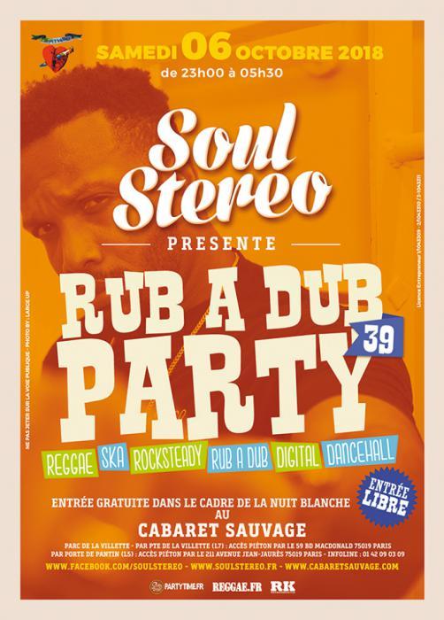 Rub A Dub Party gratuite demain au Cabaret Sauvage