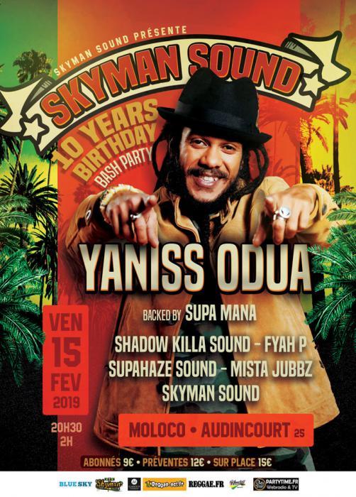 Skyman Sound fête ses 10 ans avec Yaniss Odua