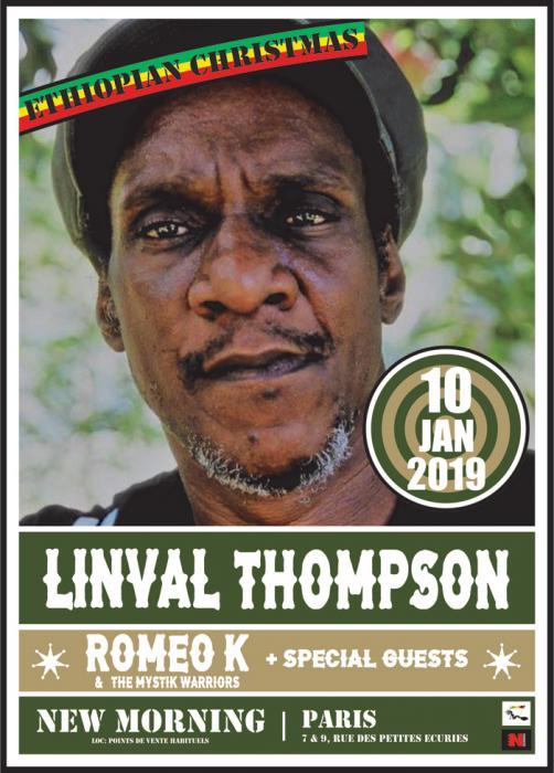 Linval Thompson à Paris pour le Nouvel An Ethiopien