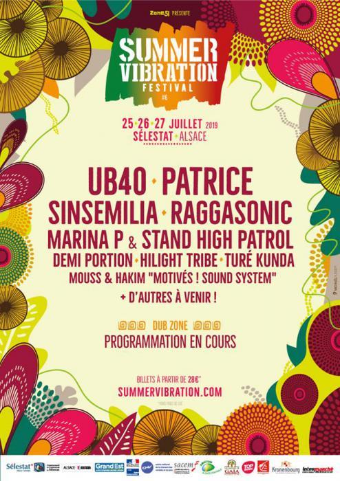 Du nouveau au Summer Vibration Reggae Festival