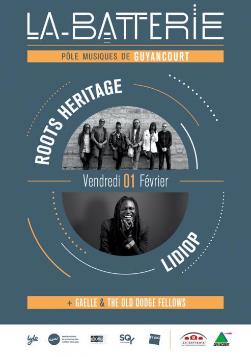 Roots Heritage & Lidiop à La Batterie de Guyancourt