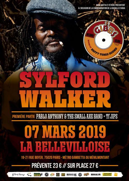 Sylford Walker à Paris le 7 mars