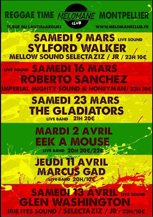 Le reggae à l'honneur au Mélomane Club de Montpellier