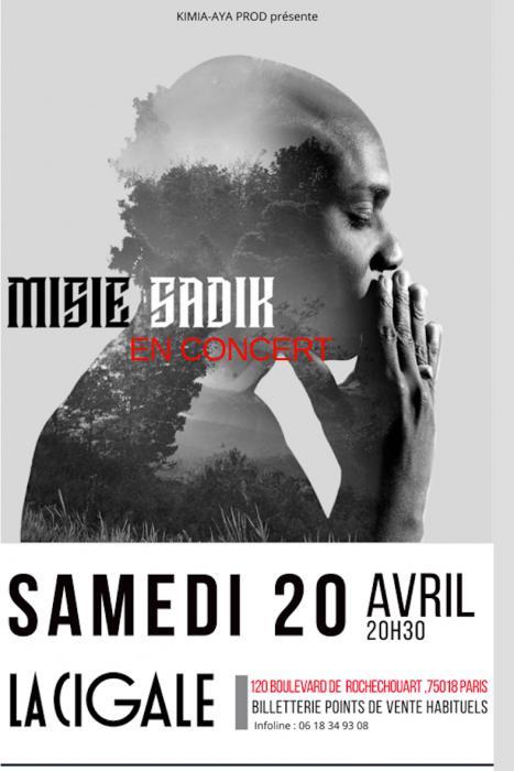Misié Sadik en concert à La Cigale le 20 avril