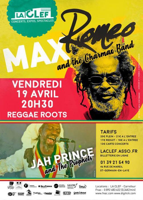 Max Romeo & Jah Prince à St Germain en Laye