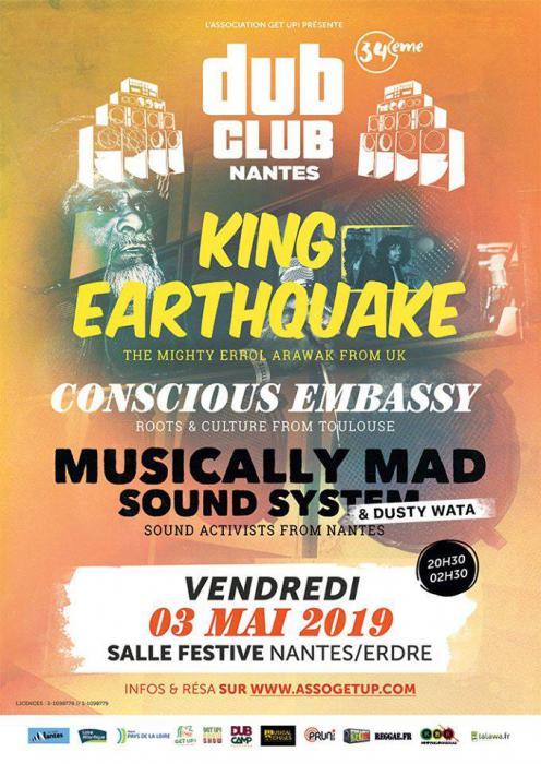 Nantes Dub Club #34 avec King Earthquake
