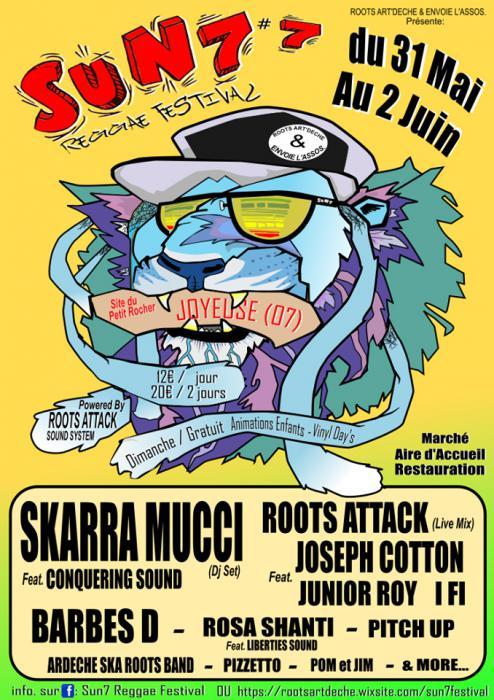 Sun7 Reggae Festival en Ardèche en juin