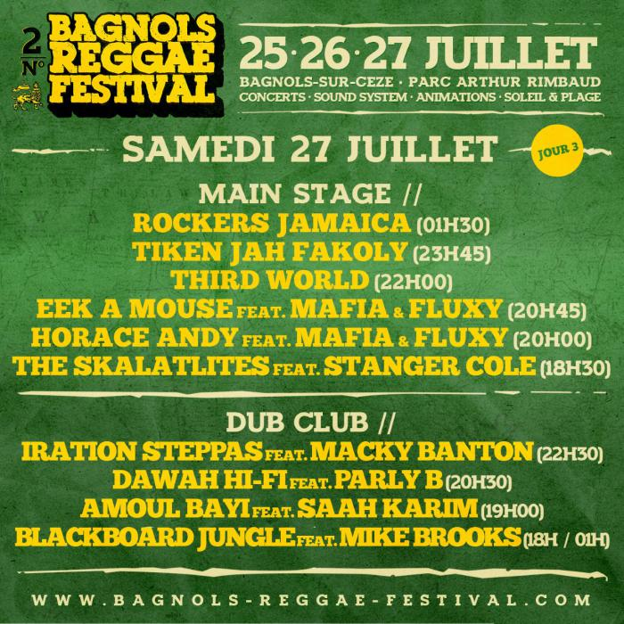Reggae.fr En Direct du Bagnols Reggae Festival