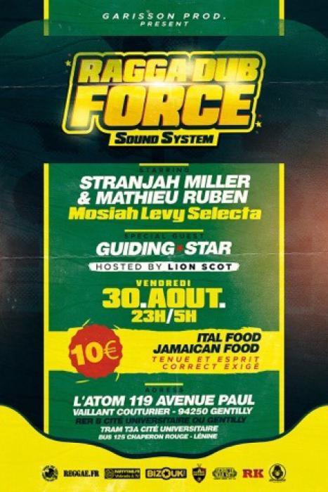 Soirée Ragga Dub Force Sound le 30 août dans le 94