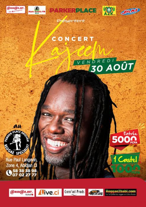 Kajeem au Parker Place d'Abidjan le 30 août