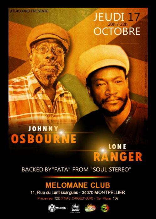 Johnny Osbourne & Lone Ranger à Montpellier : places à gagner