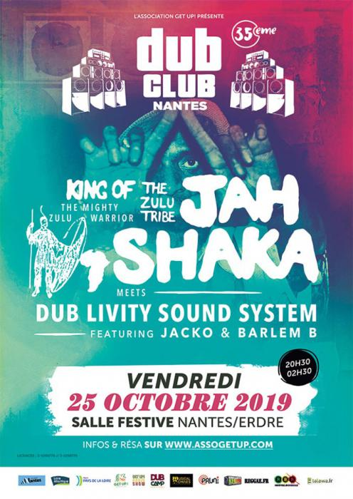 Nantes Dub Club #35 avec Jah Shaka