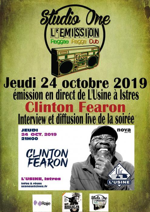 Clinton Fearon live et interview ce soir sur Reggae.fr Webradio