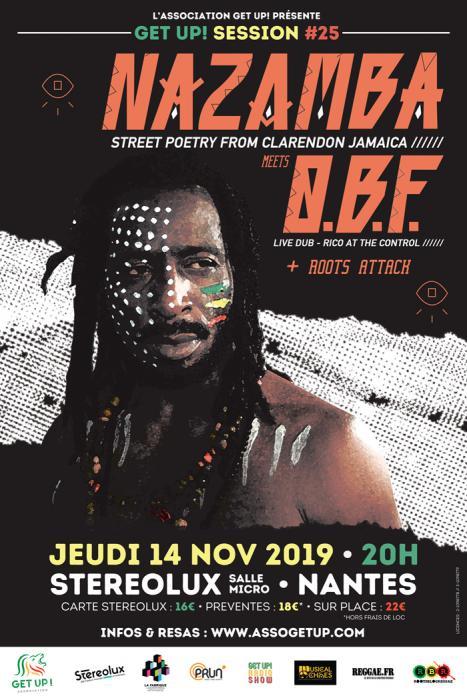 Get Up Session à Nantes avec O.B.F & Nazamba