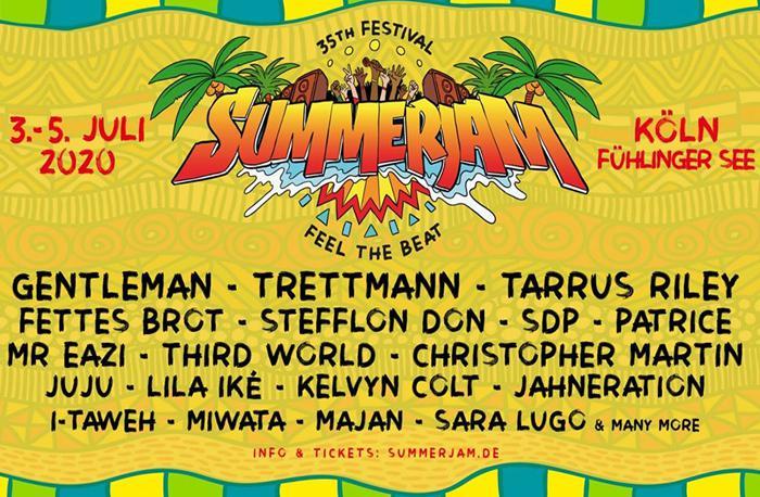 Les premiers noms du Summerjam 2020