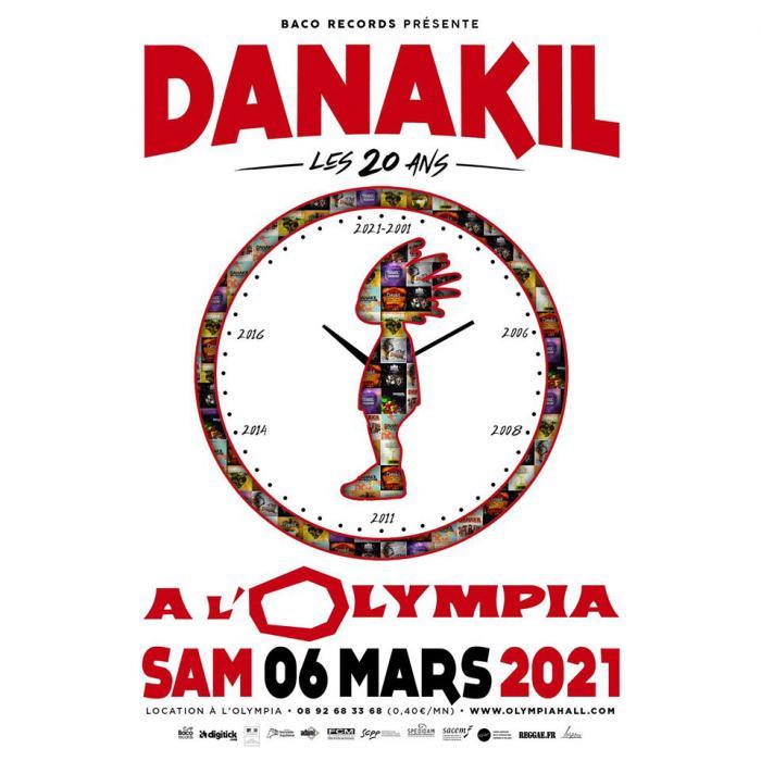 Danakil fête ses 20 ans à L'Olympia en 2021 !