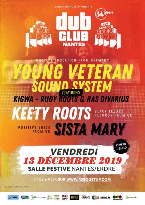 Nantes Dub Club #36 avec Keety Roots & Young Veteran