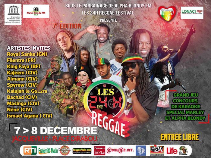 Les 24H du reggae à Abidjan ce week-end