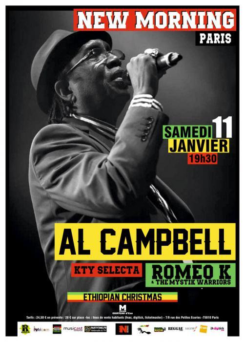 Al Campbell au New Morning le 11 janvier