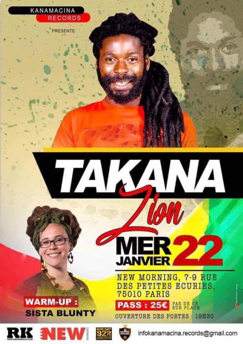 Takana Zion en concert à Paris le 22 janvier